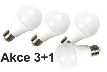Akce: LED žárovka E27 10W 800 lm teplá  3+1