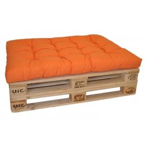 Paletový polstr 120x80 cm - látka oranžový melír