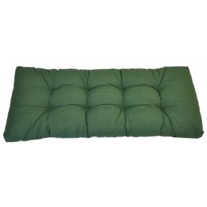 Paletový polstr 120x50 cm - látka tmavě zelený melír