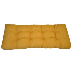 Paletový polstr 120x50 cm - látka žlutý melír