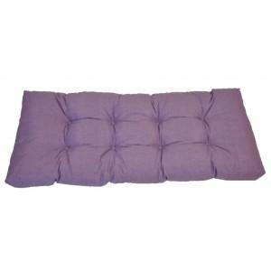 Paletový polstr 120x50 cm - látka fialový melír