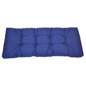 Paletový polstr 120x50 cm - látka tmavě modrý melír