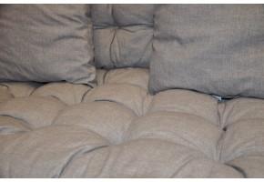 Sada polstrů na paletové sezení - látka šedý melír