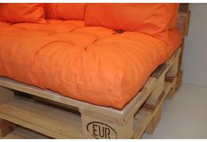 Sada polstrů na paletové sezení - látka oranžový melír