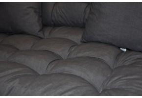 Sada polstrů na paletové sezení - látka tmavě šedý melír
