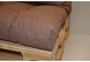 Sada polstrů na paletové sezení - látka hnědý melír