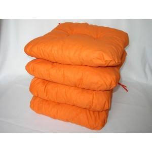 Sedák na židli 40x40 cm oranžový AKCE 3+1