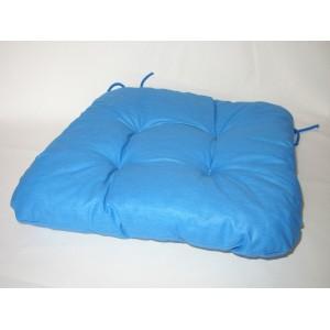 Sedák na židli 40x40 cm modrý