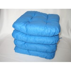 Sedák na židli 40x40 cm modrý AKCE 3+1
