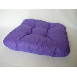 Sedák na židli 40x40 cm fialový