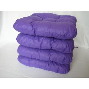 Sedák na židli 40x40 cm fialový AKCE 3+1