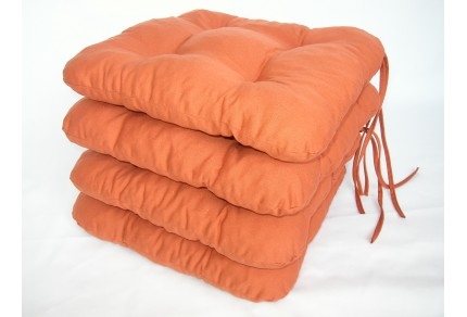 Sedák na židli 40x40 cm barva písková SET 4ks