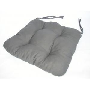 Sedák na židli 40x40 cm barva šedá
