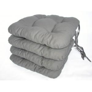 Sedák na židli 40x40 cm barva šedá AKCE 3+1
