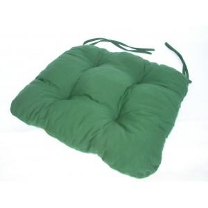 Sedák na židli 40x40 cm barva zelená tmavá