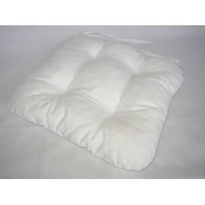 Sedák na židli 40x40 cm barva sněhově bílá