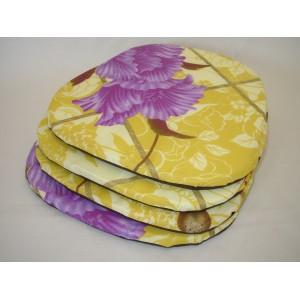 Sedák na židli motiv lila květ AKCE 3+1
