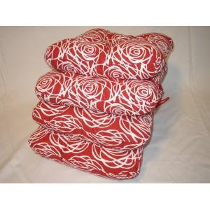 Sedák na židli 40x40 cm linka na červené AKCE 3+1