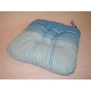 Sedák na židli 40x40 cm kombinace modré
