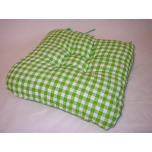 Sedák na židli 40x40 cm zelená kostka