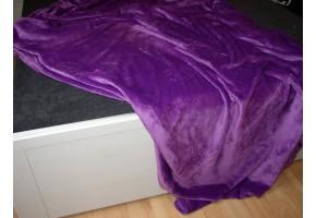 Deka mikroplyš  150x200 cm fialová