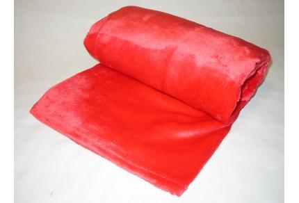Deka mikroplyš  150x200 cm červená