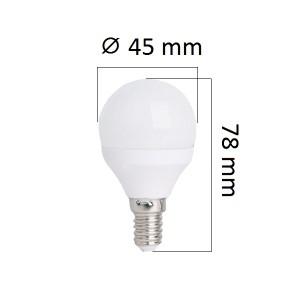 Akce: LED žárovka  E14 4W 320lm G45 teplá 3+1