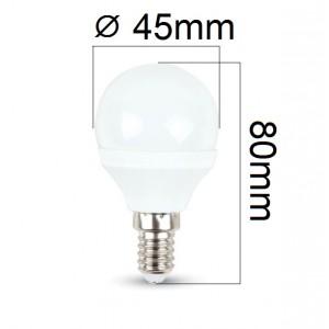 LED žárovka E14 3W 250lm G45 denní,  ekvivalent 25W