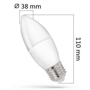 LED žárovka E27 7W 680lm, studená, ekvivalent 50W