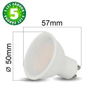 Prémiová LED žárovka GU10 SAMSUNG čipy 5W 400lm teplá