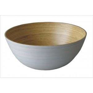 Bambusová miska bílá střední