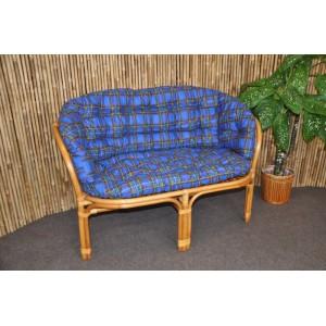Polstr na lavici Bahama modrý MAXI