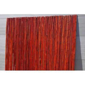 Bambusový plot 2x1,8 m, 25-30 mm barvený vínový
