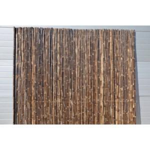 Bambusový plot 2x1,8 m, 25-30 mm natural black