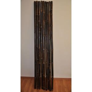 Bambusová tyč 4-4,5 cm, délka 2 metry, bambus black