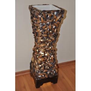 Lampa bambusová střední včetně LED žárovky
