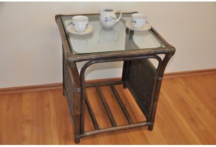 Ratanový stolek Oliver hnědý malý