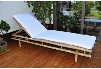 Bambusové lehátko Polo s polstrem