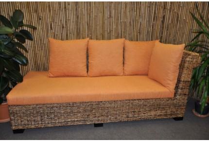 Odpočinková pohovka Lazy levá banánový list polstr oranžový