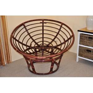 Ratanový papasan 110 cm mahagon - konstrukce bez polstru