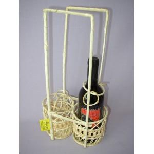Bambusový košík na 2 láhve