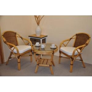 Ratanová sedací souprava Petani medová