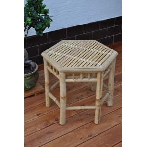Bambusový stolek šestihran XL