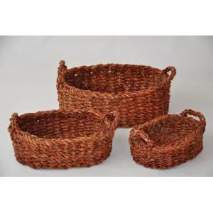Košíky vodní tráva - set 3 kusy