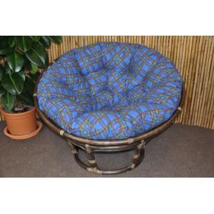Polstr na křeslo papasan 110 cm modrý CZ