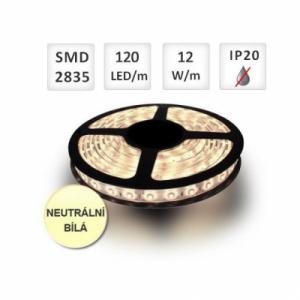 LED pásek 120ks/m 2835 12W/m  1m, NEUTRÁLNÍ