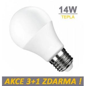 LED žárovka 14W SMD2835 1100lm E27  TEPLÁ