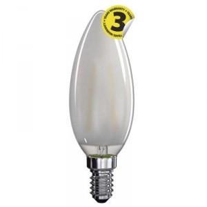 LED žárovka Filament Candle matná A++ 4W E14 teplá bílá
