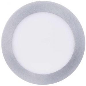LED panel 174mm, kruhový přisazený stříbrný, 12W neutr. bílá