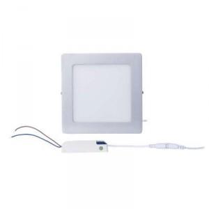 LED panel 174×174, přisazený stříbrný, 12W neutrální bílá